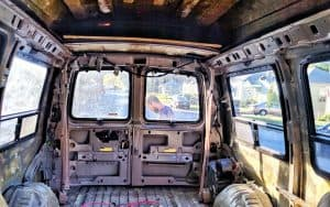 gutting our conversion van