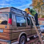 How We Mounted Solar Panels on a Fiberglass Van Roof