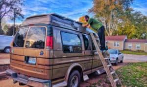 mounting-solar-panels-fiberglass-van-roof