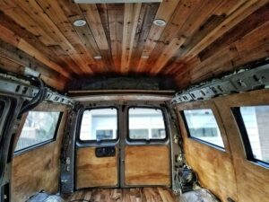easy steps to staining a van