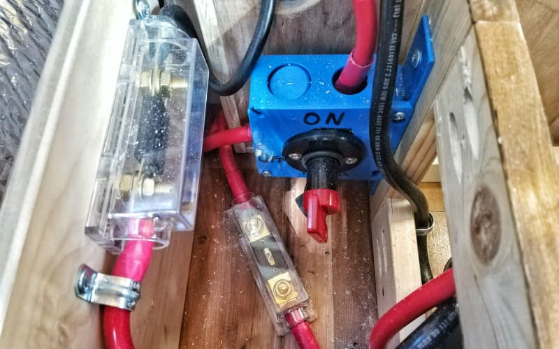 inverter switch and fuses
