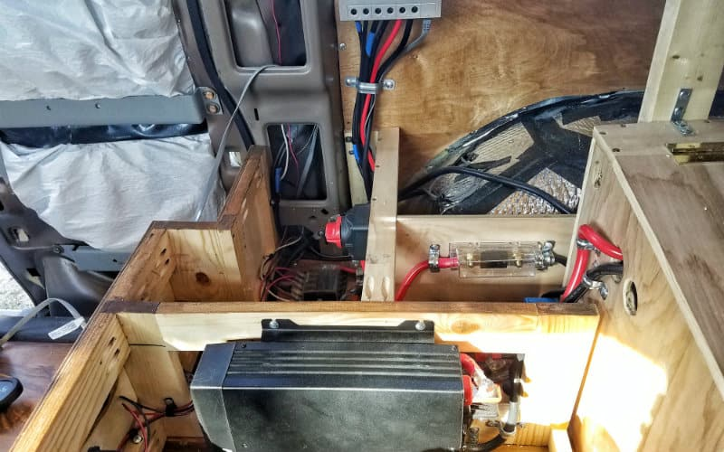 view from countertop with inverter