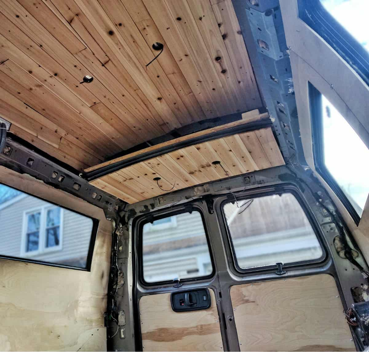 Van Build Floor Walls Ceiling