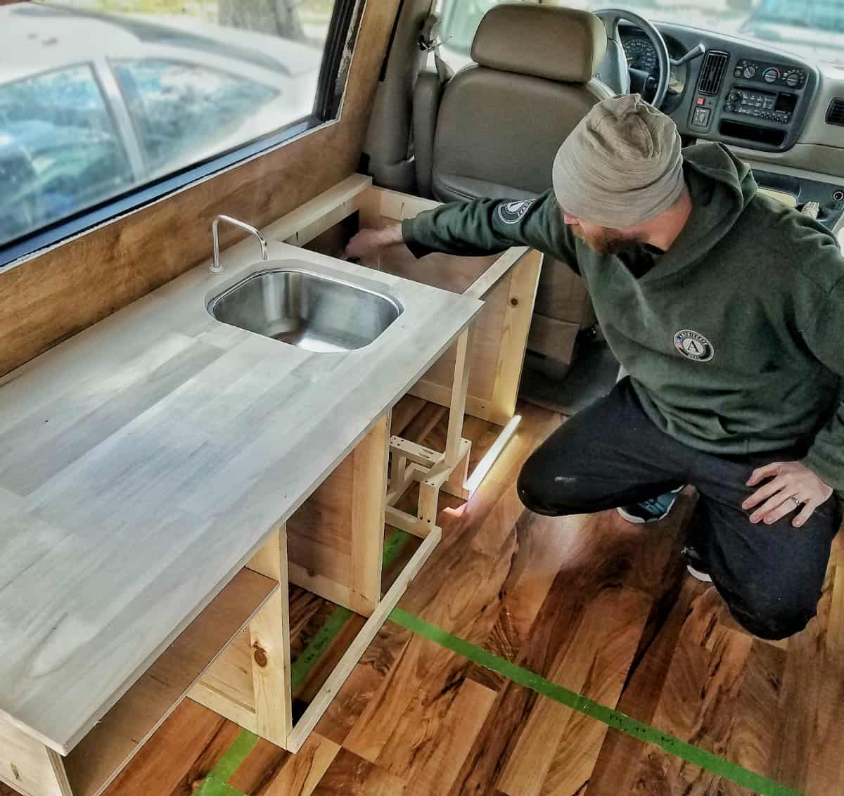 Van Build Kitchen and Plumbing