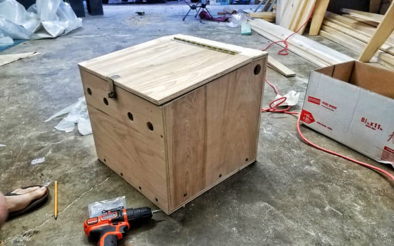 How to Build a Plywood Battery Box for a DIY Van Conversion