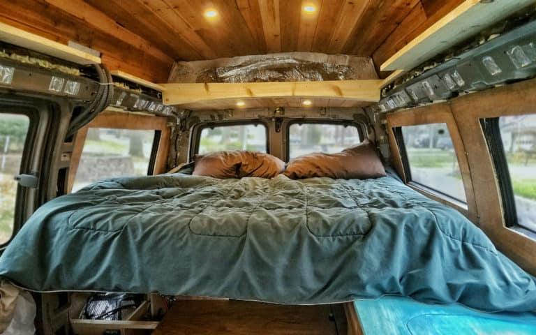 How to Fit a Queen-sized Bed in Your Van: Badass Pullout Bed Frame Design
