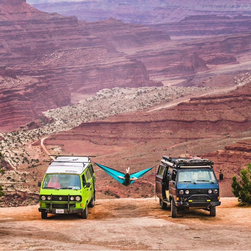 @josiahq vans in a canyon