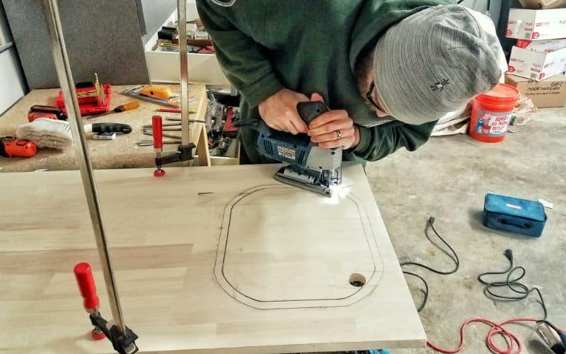 jigsawing sink hole