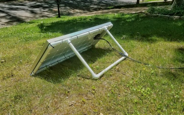 How to Build an Easy Portable Solar Panel Mount Out of PVC
