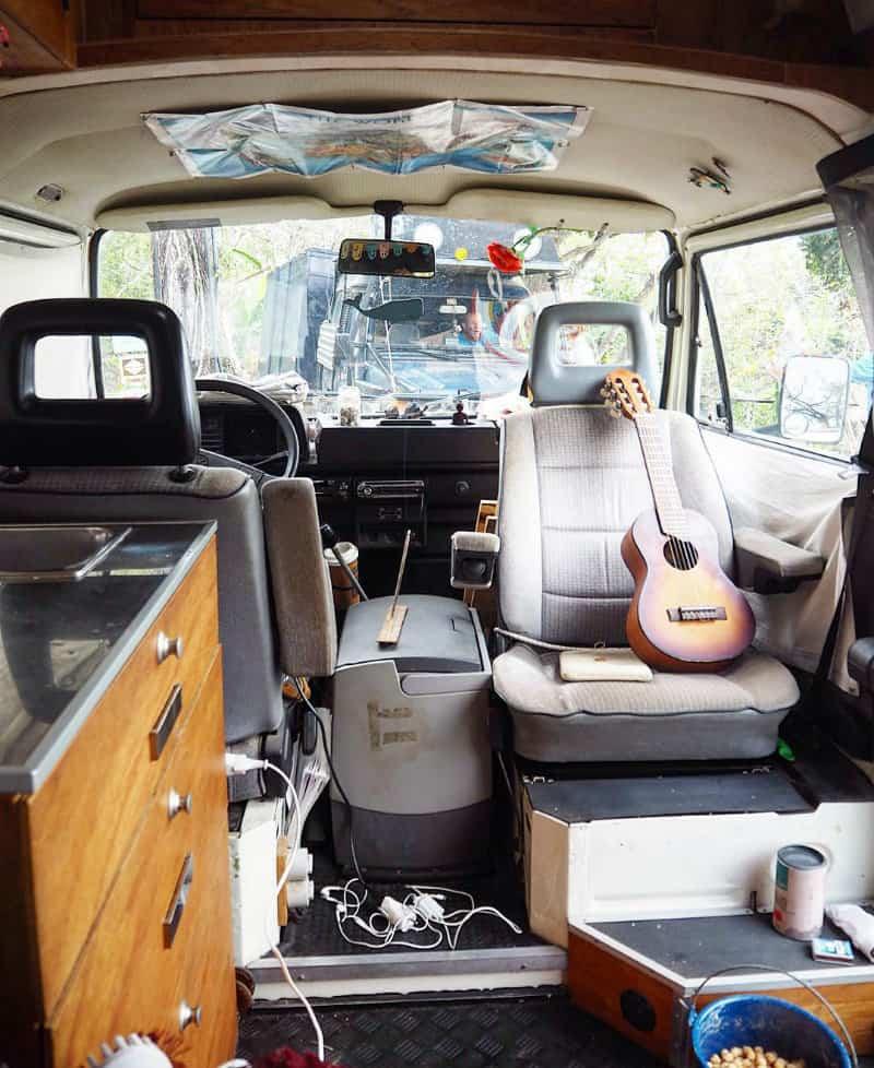 interior shot up front