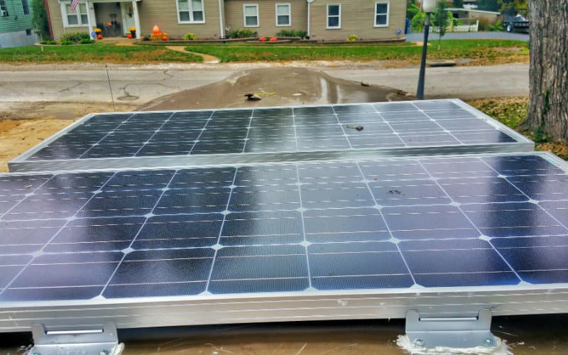 Mounting solar to roof