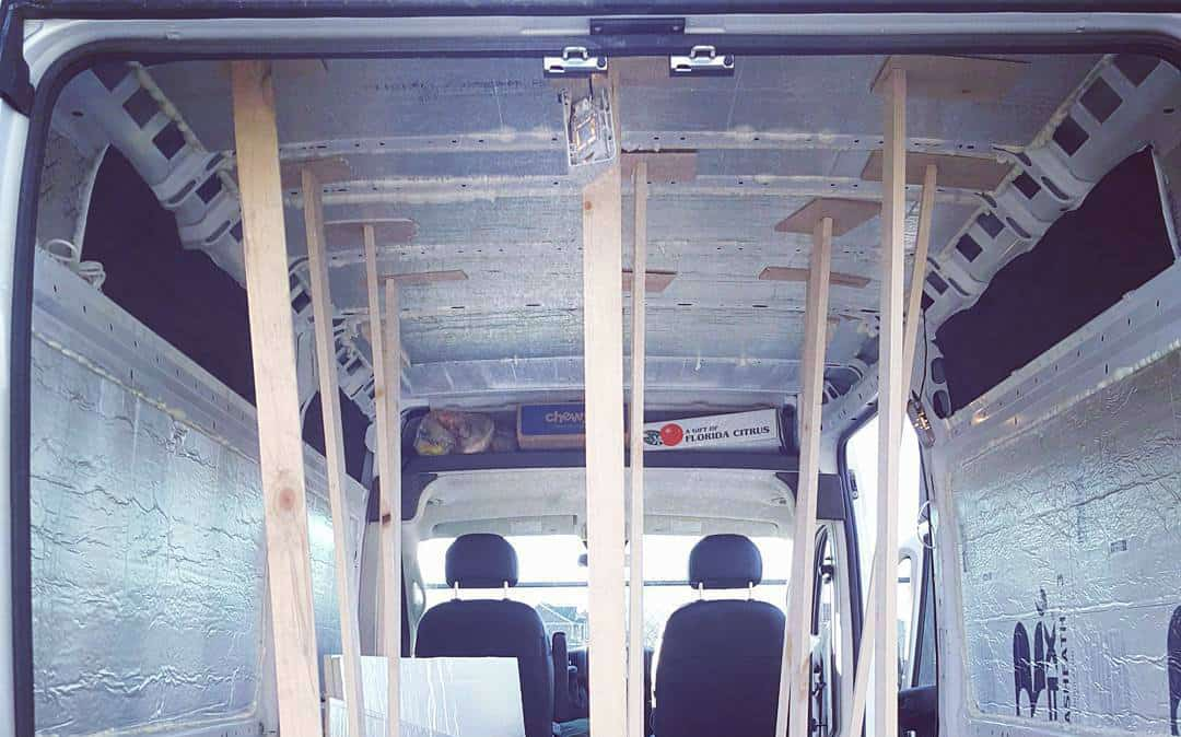 van insulation ceiling by @landonjump