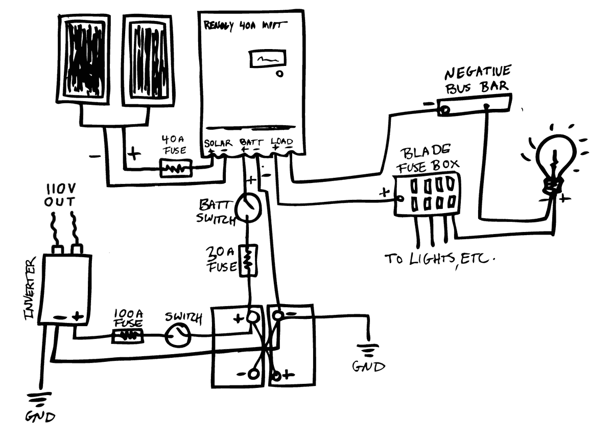 110 volt wiring diagram for ac