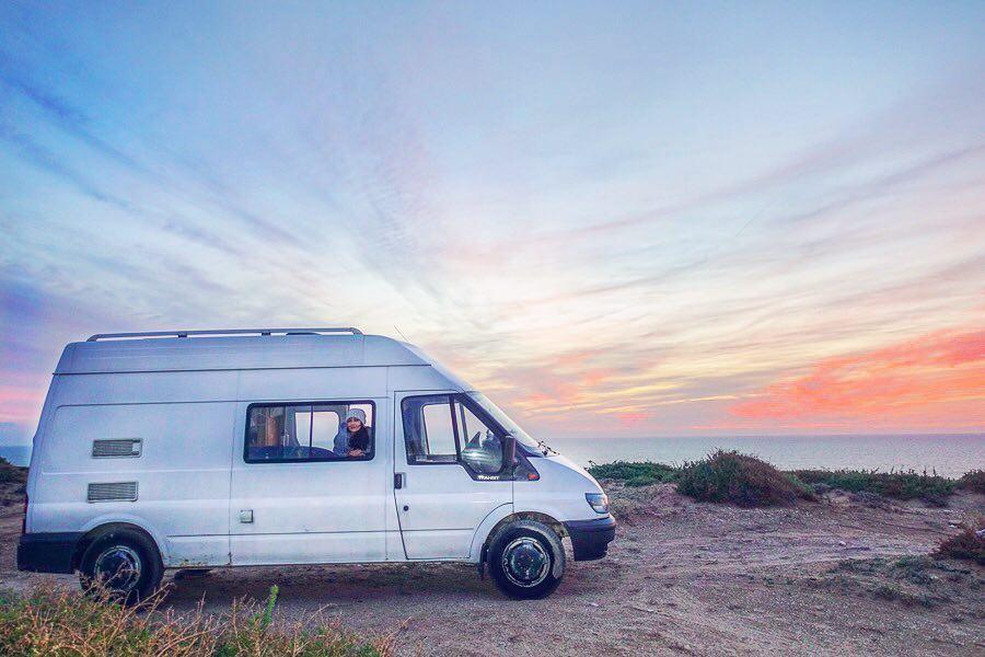 van and sky