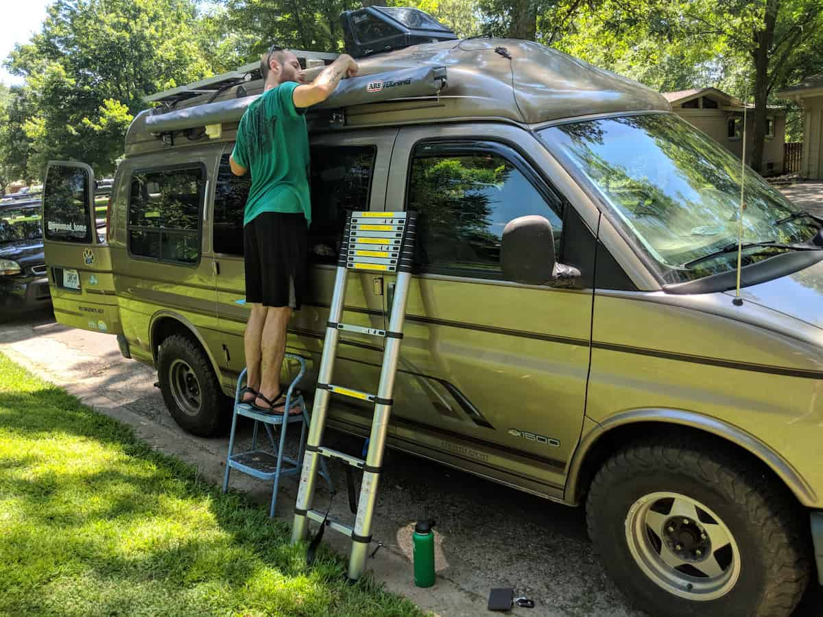 mounting arb awning onto van