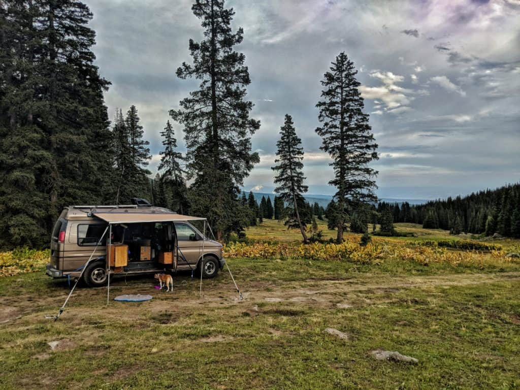 vanlife boondocking on public land