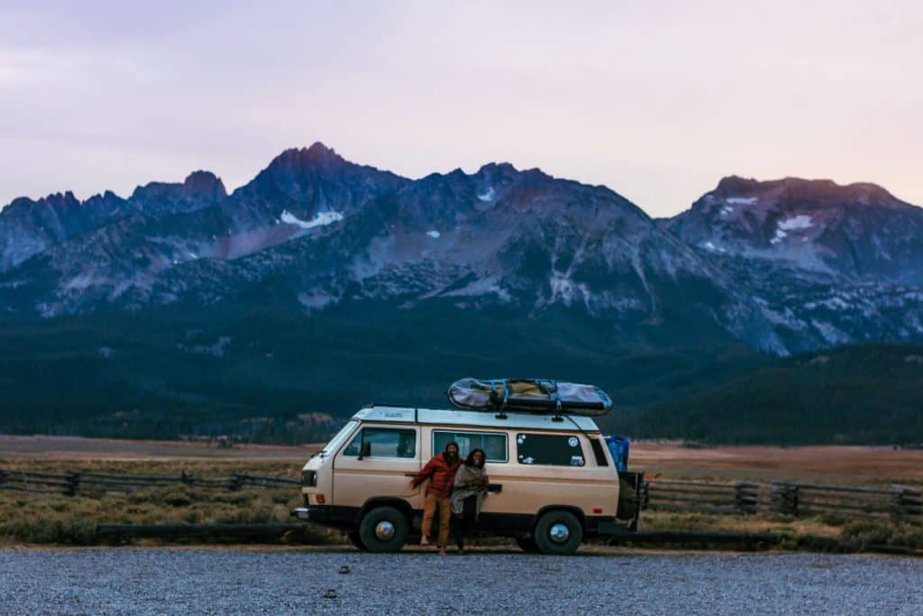 van and mountain