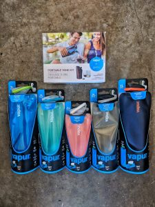 Vapur Collapsible Water Bottls and Wine Holders