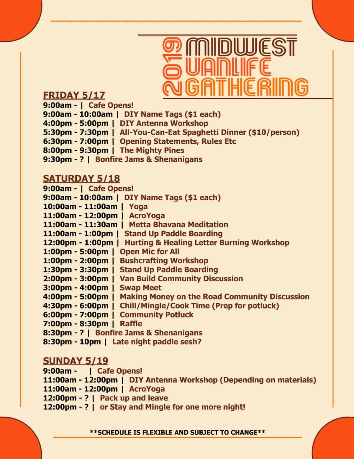 Schedule Poster