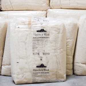 batts of wool insulation