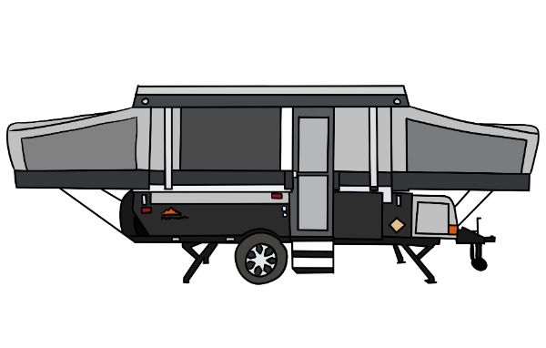 Soft sided popup trailer