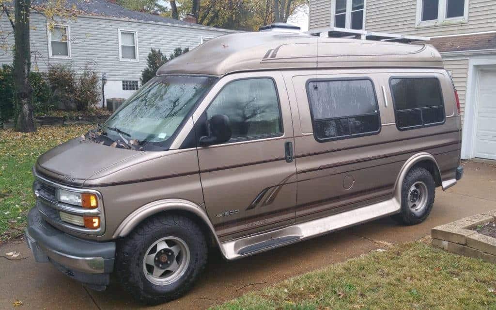Van sitting in a driveway