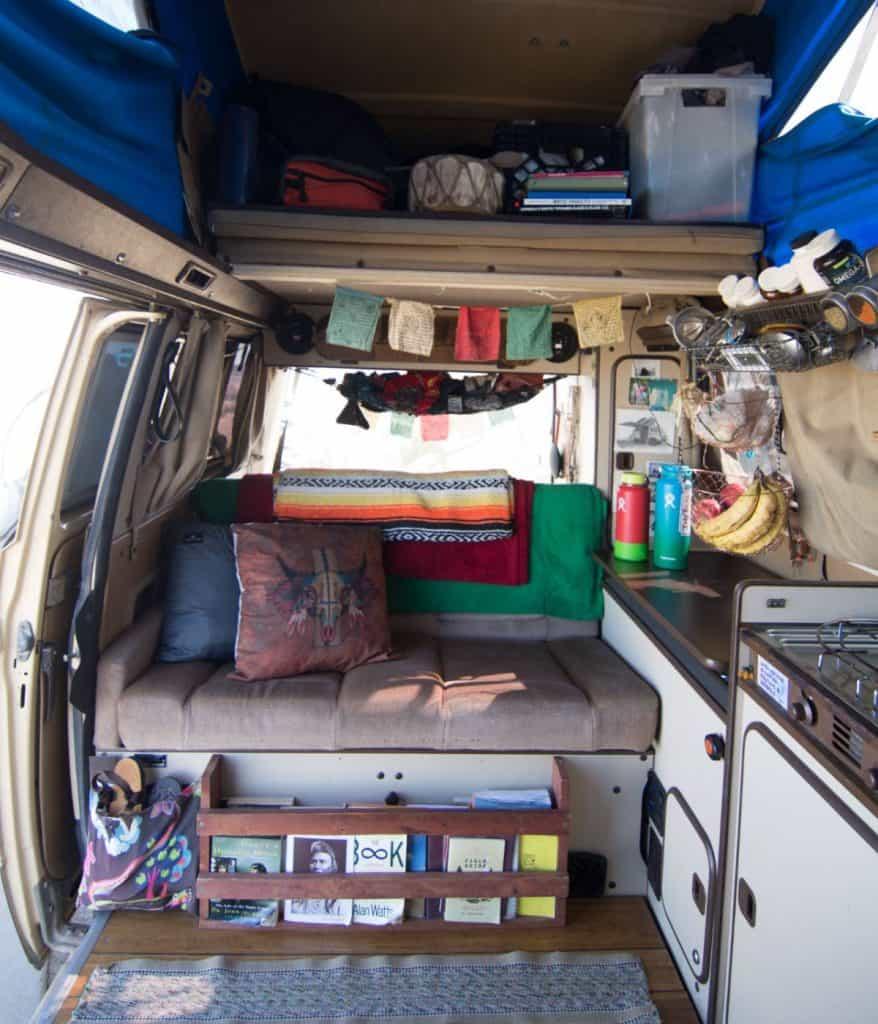 Interior shot of the van.
