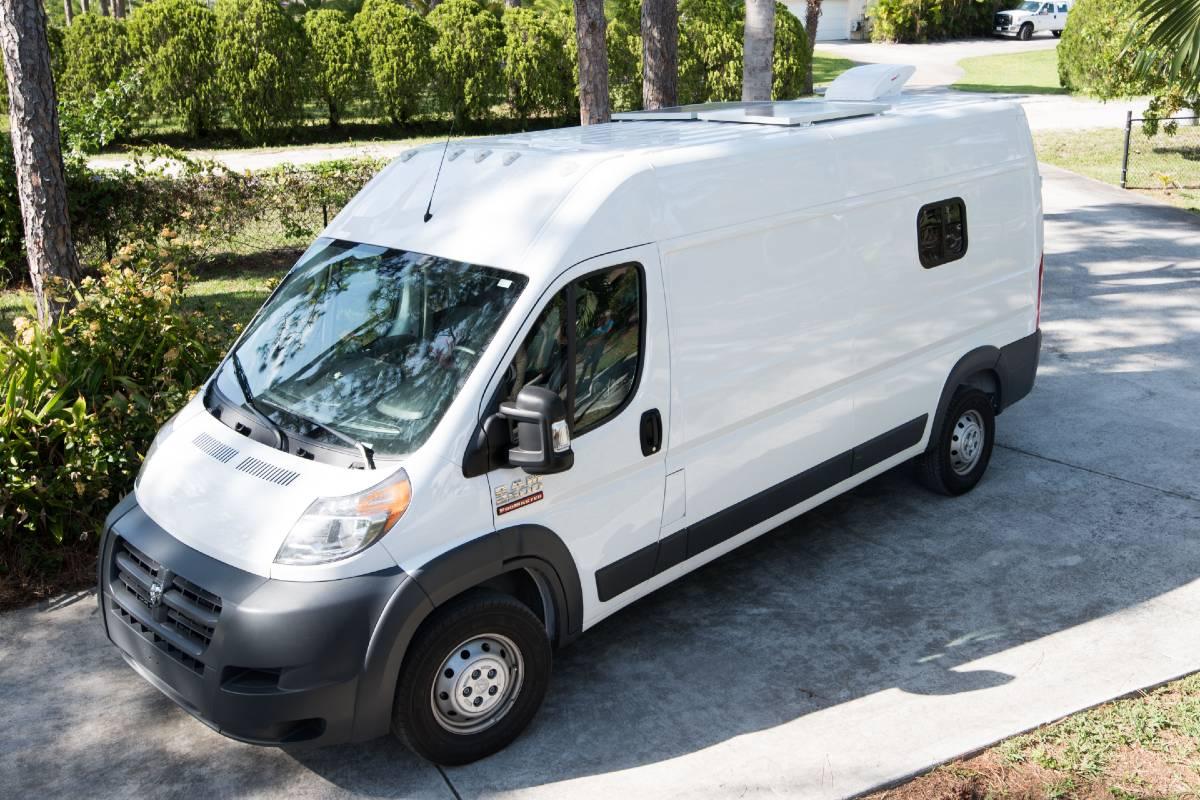 Side shot of dodge ram promaster van
