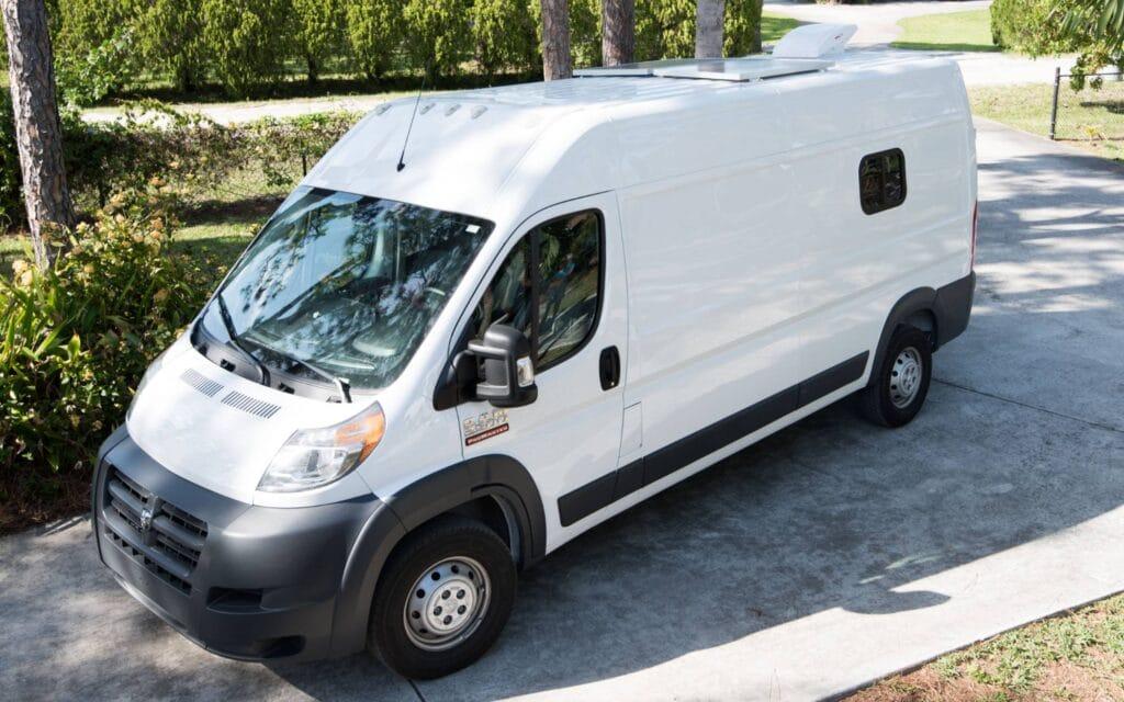 side view of dodge ram promaster van