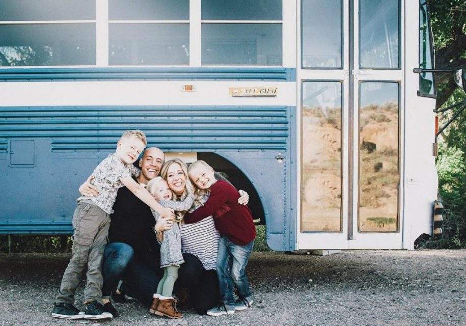 fam on side of bus