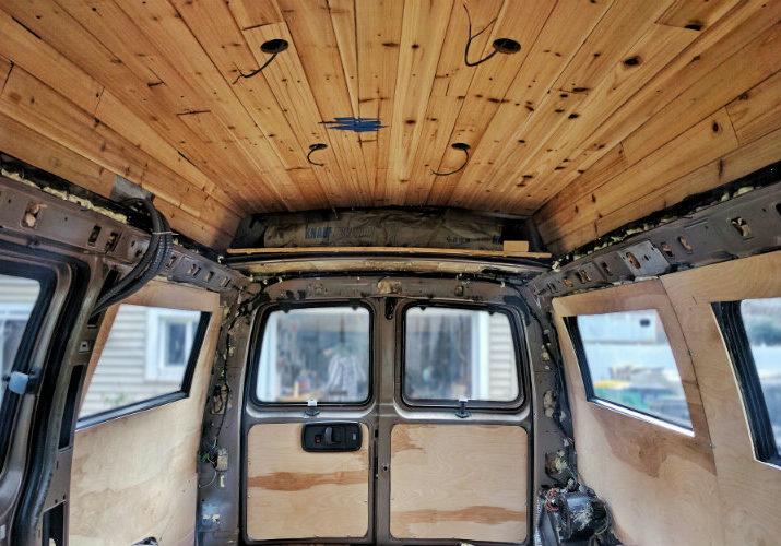 diy van conversion ceiling