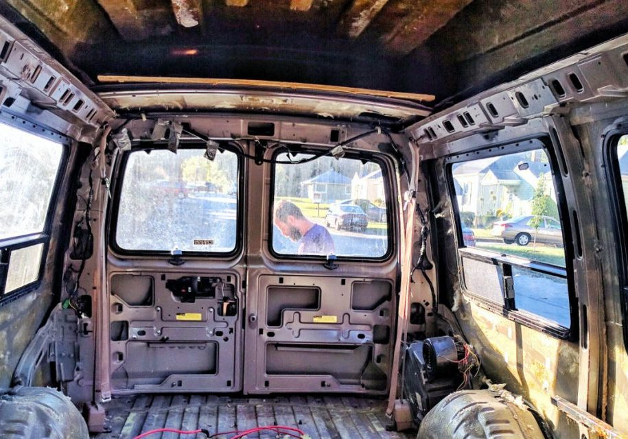 gutting our conversion van