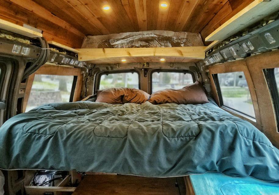 diy van build how to build bed frame