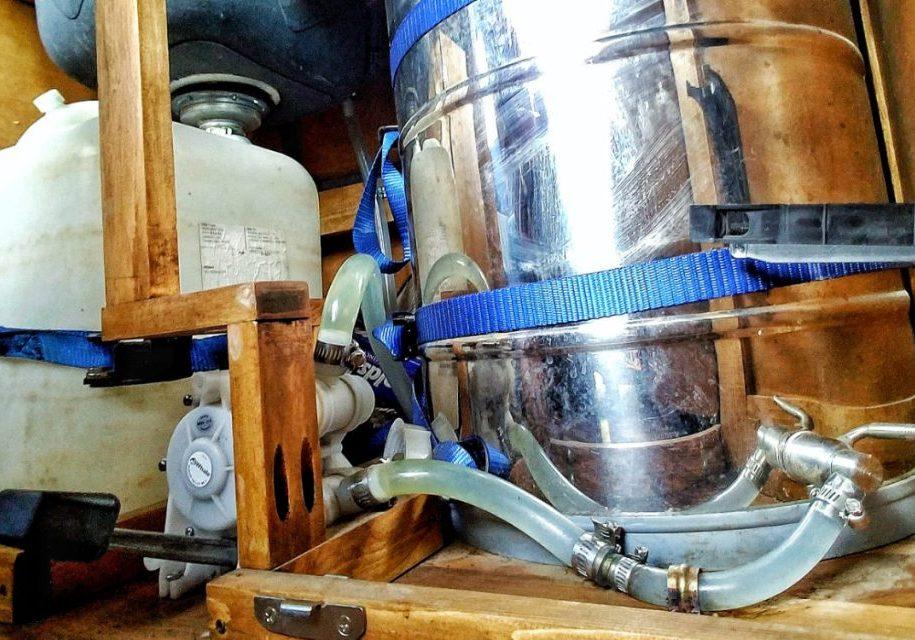 water system van build plumbing